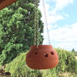 Terra-cotta Hanging Pot / Candle Holder